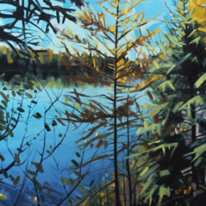 Otter Lake Series #5 by Reid Thorpe, 24x36 Oil