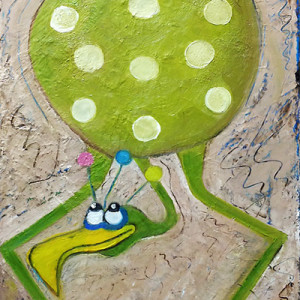 Louie Looney Bird III by Laurie Swanson, 12x24 Oil