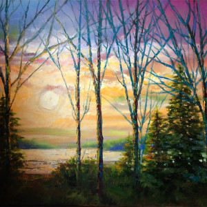 Evening Light by Lynda Peterson, 36x24 Oil