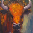 Buffalo Fever by Stephen Wysocki, 16x20 Oil