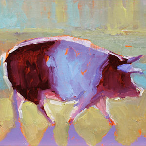 Big Pig by Stephen Wysocki, 12x9-Oil