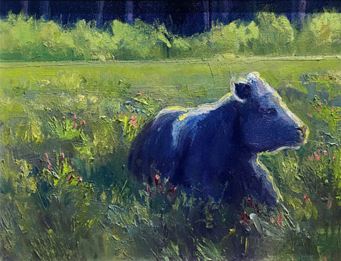 Sunlit Meadow by Stephen Wysocki, 16x12-Oil