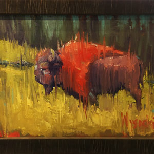Lone Bull by Stephen Wysocki, 16x12-Oil