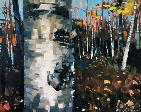 Birch Bark by Reid Thorpe, 20x16-Oil