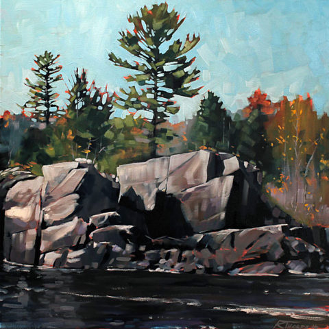 Grandfather Falls #1 by Reid Thorpe, 20x20-Oil