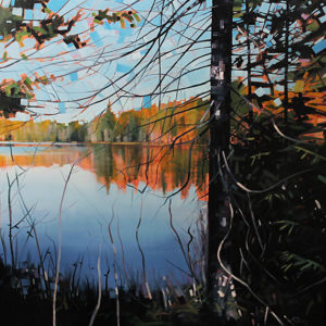 Otter Lake Series #7 by Reid Thorpe, 48x48-Oil