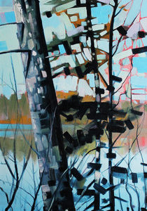Otter Lake Series #8 by Reid Thorpe, 12x36-Oil