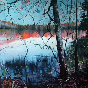 Otter Lake Reflection by Reid Thorpe, 36x36-Oil