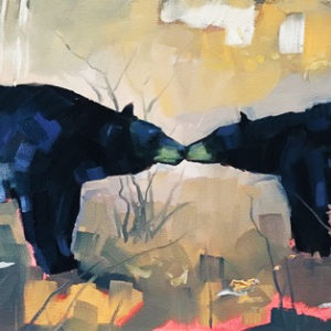Two Bears by Reid Thorpe, 20x10-Oil