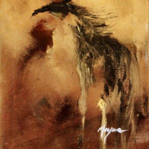 Cave Horse by Terry Meyer, 12x16-Oil