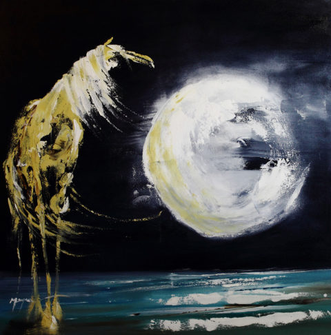 Palomino Moon by Terry Meyer, 36x36-Oil