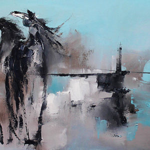 Quintet by Terry Meyer, 60x20-SOLD
