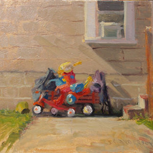 Pile Up by Scott Lloyd Anderson, 10x8 Oil Framed