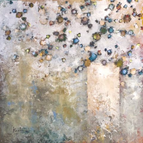 Bouquet Burst by Jeff Koehn, 48x48 Acrylic