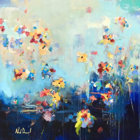 Afternoon Garden by Noah Desmond, 48x48 Oil- SOLD