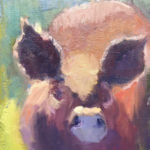 Highlighted Ears by Stephen Wysocki. 10x8, Oil