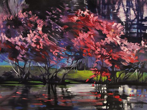 River Redbuds by Judy Munro at Kelley Gallery Art & Frame in Woodbury, MN