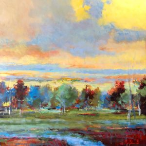 Autumn Brilliance by Noah Desmond 48X48 Oil at Kelley Gallery Art & Frame in Woodbury, MN