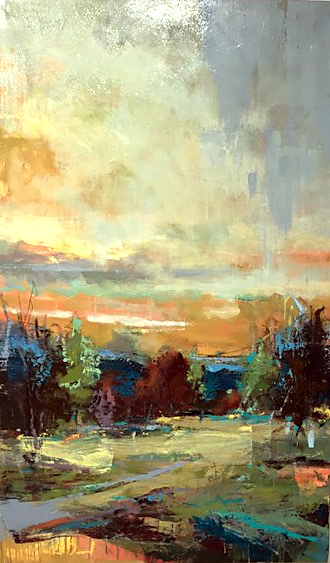 Evening Light by Noah Desmond 36X60 Oil at Kelley Gallery Art & Frame in Woodbury, MN