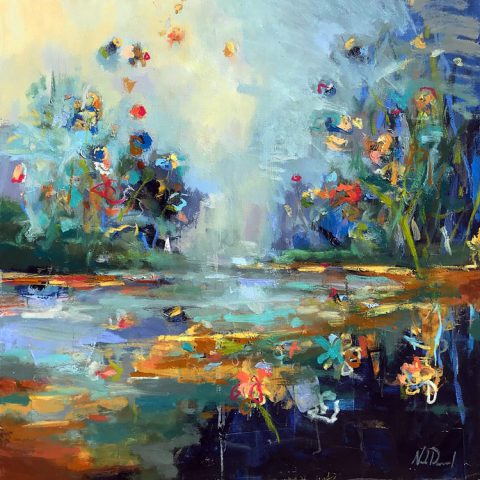 Reflective Garden by Noah Desmond 48X48 Oil- SOLD