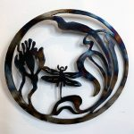 Dan Lee metal art at Kelley Gallery Art & Frame in Woodbury, MN