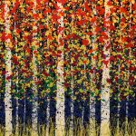Daniel Lager tree painting at Kelley Gallery Art & Frame in Woodbury, MN