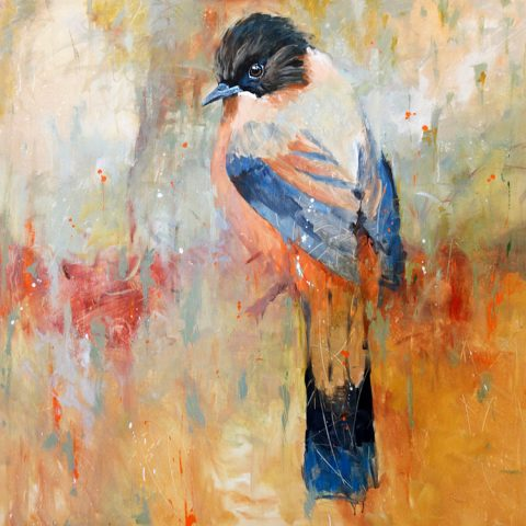 Coat of Many Colors by Dakota Finn, 48x48 Acrylic- SOLD