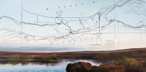 St Croix River Valley by Christina Keith, 30x15 Mixed Media