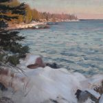 Dusk on the North Shore by Scott Lloyd Anderson, 10x8 Oil, Framed