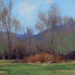 Early Spring by Ben Bauer, 12x8 Oil, Framed
