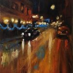 Judges Choice Winner- Holiday Street by Tom Dimock, 9x12 Oil, Framed