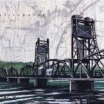 St Croix Crossing by Christina Keith, 7x5 Mixed Media, Framed
