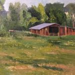 The Red Shed by Kathy Litwin, 12x9 Oil, Framed