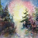 SOLD- The Light Within by Julie Schroeder, 7x5.5 Watercolor, Framed
