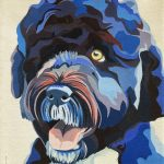 SOLD- Portuguese Water Dog by Sarah Thrornton, 10x12 Oil