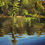Water Reflections #7 by Reid Thorpe, 9x12 Oil