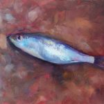Fish Out of Water by Christine Tierney, 8x6 Oil, Framed
