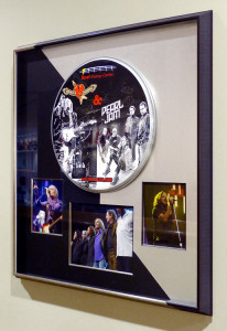 Framed Tom Petty & Pearl Jam signed Drum Cover & Photos at the Xcel Center