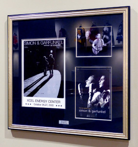 Framed Simon & Garfunel at the Xcel Center by Kelley Gallery Art & Frame in Woodbury, MN