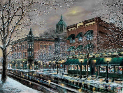 Evening on Old Seven Corners by Susan Amidon