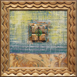 Benson-Textured-Warm-and-Gold-II-8x8-Framed