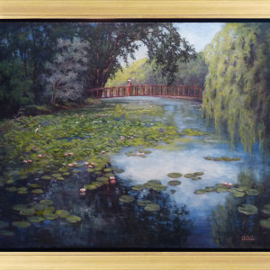 Water Lillies in the Afternoon by CeCeile Hartleib, 40x32 Oil