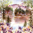 Late Summer by Julie Schroeder, Watercolor Sold