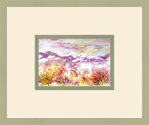 Montana Morning by Julie Schroeder, 9x6 Watercolor