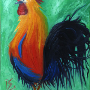 Attention by Laurie Swanson, 12x24 Oil