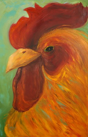 The Look by Laurie Swanson, 24x36 Oil