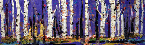 A Stroll in the Woods 23x8