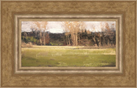 Signs of Life- Highway 96 by Ben Bauer, 16x8 Oil, Framed