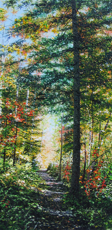 Fall's Whisper by Ashley Dull, Giclee Canvas