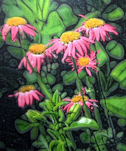 Pink Cone Flowers Canvas 16x20